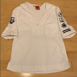 Tory Burch white Sailor Top